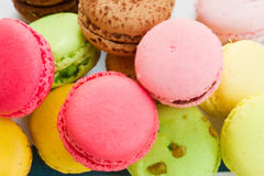 Pile of macaroons close up Stock Image