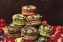 Pile of macaroons Stock Photo