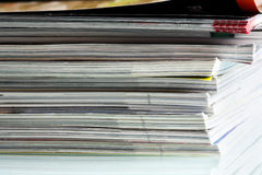 Pile of magazines. Stock Image