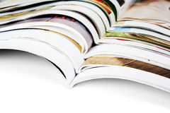 Pile of magazines Royalty Free Stock Image