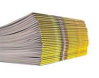 Pile of magazines Royalty Free Stock Photos