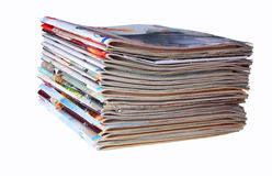 Pile of magazines Royalty Free Stock Images