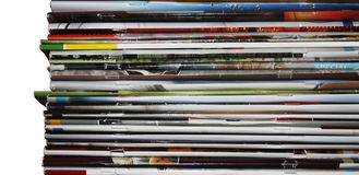 Pile of magazines Stock Image