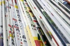 Pile of magazines Royalty Free Stock Photo
