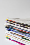 Pile of Magazines stock images