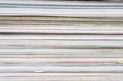 Pile of magazines. Background Stock Images