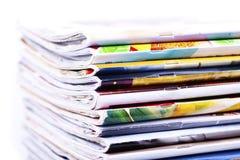 Pile of magazines isolated Royalty Free Stock Image