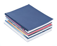 Pile of magazines. Separated on white background Stock Photo
