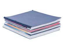 Pile of magazines. Separated on white background Stock Photography