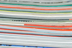 Pile of magazines, shallow DOF Royalty Free Stock Photography