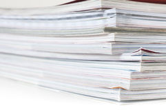 Pile of magazines. On white background Stock Image