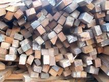 Mahogany wood logs Royalty Free Stock Photos