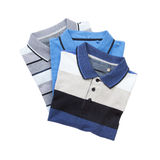Pile of man polo shirts Royalty Free Stock Photography