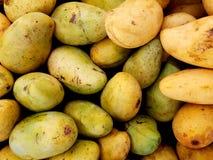 Pile of mangoes. Full frame of mangoes at market stock image