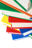 Pile of many colorful books Stock Photos