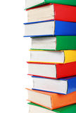 A pile of many colorful books. With a copy space stock photos