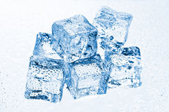 Pile of many ice cubes Royalty Free Stock Photos