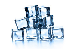 Pile of many ice cubes Royalty Free Stock Photo