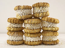 Pile with marchmallow cakes Royalty Free Stock Images
