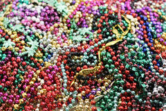 Pile of mardi gras beads. Pile of colorful Mardi Gras beads Stock Photo