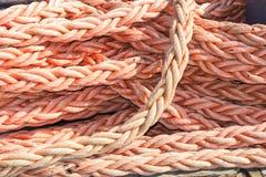 Pile marine de corde de noeud de corde Photos stock
