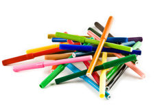 Pile of Markers. Stock Photography