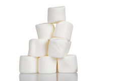 Pile of marshmallows Royalty Free Stock Photography