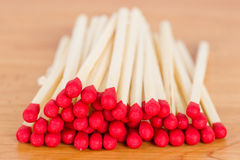 A pile of match Stock Images