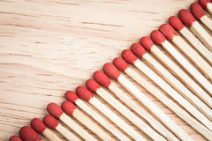 Pile of match arrange in a row Stock Photography