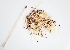 Pile of Matches Stock Image