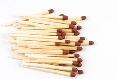 Pile of matches Royalty Free Stock Photography