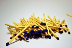 A pile of matches Royalty Free Stock Photo