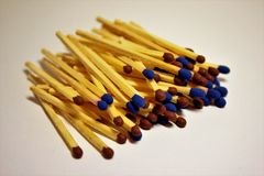 A pile of matches Stock Photo