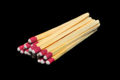 Pile of Matches Isolated on Black Stock Image