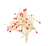 Pile of matches isolated on white Royalty Free Stock Image