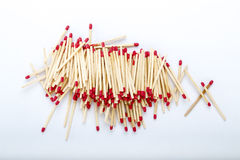 Pile of matches Royalty Free Stock Image