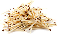 Pile of matches Royalty Free Stock Images