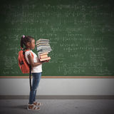 Pile of math books for a child Royalty Free Stock Image