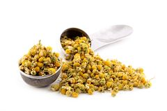 Heap dried chamomile Stock Photography