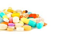 Pile of medicine Stock Images