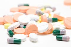 Pile of medicine pills Stock Image