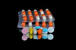 A pile of medicines Royalty Free Stock Photo