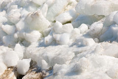 Pile of melting ice Stock Image