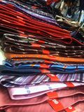 A pile of mens ties Royalty Free Stock Photo