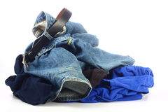 Pile of messy clothes Royalty Free Stock Photo
