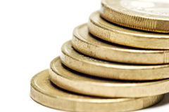 Pile of metal coins Royalty Free Stock Photography