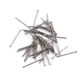 Pile of metal nails isolated Royalty Free Stock Image
