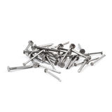 Pile of metal nails isolated over white background, view above Royalty Free Stock Photography
