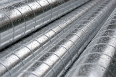 Pile of metal pipes Stock Images