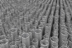 Pile of metal springs and coils Stock Photos